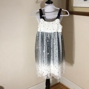 Justice ombre dress. Black/white/silver. Girls 12